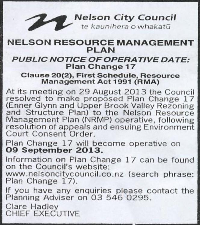 Brook Valley rezoning notice